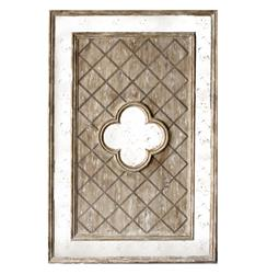 Fleur French Country Lattice Distressed Antique Wood Mirror | Kathy Kuo Home