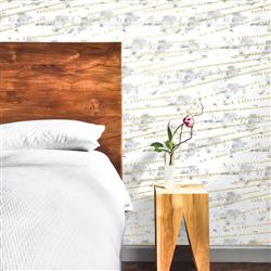 Flock Industrial Loft Sunrise Gold Removable Wallpaper | Kathy Kuo Home