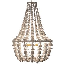 Flower Drop Frost White Oly Studio Chandelier | Kathy Kuo Home