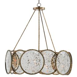 Forman Modern Industrial Bronze Antique Mirror Ring Chandelier | Kathy Kuo Home