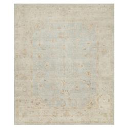 Forrest French Antique Mist Grey Blue Wool Rug - 2x3 | Kathy Kuo Home