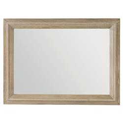 Fossey French Country Rustic Oak Rectangular Mirror | Kathy Kuo Home