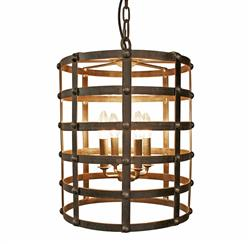Francis Industrial Loft Metal Barrel Cage Pendant Light | Kathy Kuo Home