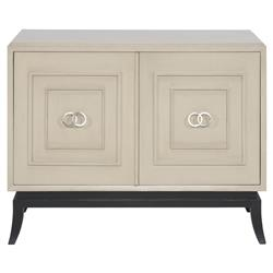 Franklin Modern Classic Grey Walnut Solid Brushed Nickel Hardware 2 Door Chest | Kathy Kuo Home