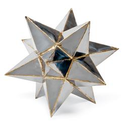 Frattini Industrial Loft Metal Moroccan Star Sculpture - 12 Inch | Kathy Kuo Home