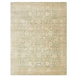 French Country Sage Green Viscose Rug - 6x8'8 | Kathy Kuo Home
