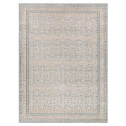 French Country Soft Blue Antique Diamond Rug - 7'10x10'6 | Kathy Kuo Home