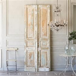 French Country Style Eloquence® Pair of Vintage Doors: 1940 | Kathy Kuo Home