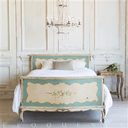 French Country Style Vintage Bed: 1940 | Kathy Kuo Home