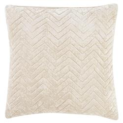 Genesis Regency Chevron Crushed Velvety Pillow - 22x22 | Kathy Kuo Home