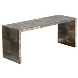 Giles Oly Grey Waterfall Console Table | Kathy Kuo Home