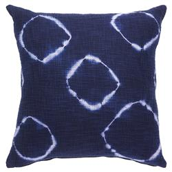 Global Ink Blue Overdyed Cotton Pillow - 20x20 | Kathy Kuo Home