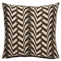Global Modern Graphic Pebble Brown Pillow - 20x20 | Kathy Kuo Home