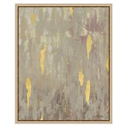 Gold Leaf Fragment Matte Taupe Painting - I | Kathy Kuo Home