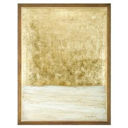Golden Leaf Ivory Landscape Canvas Painting | Kathy Kuo Home
