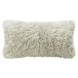 Grable Modern Milk White Curl Long Wool Lumbar Pillow - 11x22 | Kathy Kuo Home