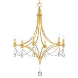 Gracie Regency Antique Gold Glass Bead Chandelier | Kathy Kuo Home