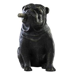 Grady The Bulldog Smoking Cigar Sculpture | Kathy Kuo Home