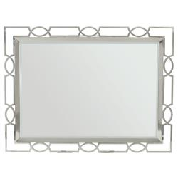 Gretta Radiant Hollywood Regency Polished Nickel Rectangular Mirror | Kathy Kuo Home