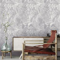 Grey and White Watermarble Costal Beach Removable Wallpaper | Kathy Kuo Home