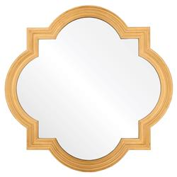 Grove Hollywood Regency Antique Gold Leaf Quatrefoil Mirror | Kathy Kuo Home