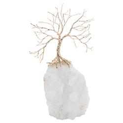 Growing Gold Tree Crystal Quartz Sculpture | Kathy Kuo Home