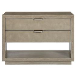 Gwyneth Modern Classic Shagreen 2 Drawer Nightstand | Kathy Kuo Home