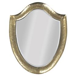 Hammerstein Hollywood Regency Antique Gold Shield Mirror | Kathy Kuo Home