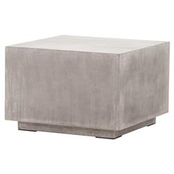 Hanz Industrial Loft Grey Block Concrete Cube Coffee Table | Kathy Kuo Home