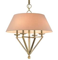Harper Transitional Classic Antique Brass Large Pendant Light | Kathy Kuo Home