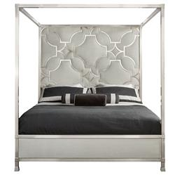 Hayley Hollywood Regency Upholstered Canopy Bed - King | Kathy Kuo Home