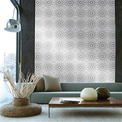 Henna Global Bazaar Metallic Platinum Black Removable Wallpaper | Kathy Kuo Home