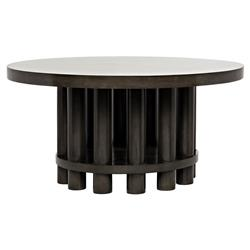 Hewson Industrial Loft Round Black Dining Table - 60D | Kathy Kuo Home