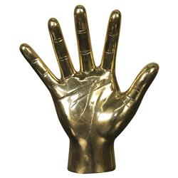 Hi Five Open Hand Brass Sculpture | Kathy Kuo Home