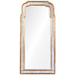 Holiday Hollywood Regency Antique Gold Leaf Frame Arch Mirror | Kathy Kuo Home