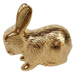 Hollywood Regency Plated Gold Baby Bunny Rabbit Sculpture | Kathy Kuo Home