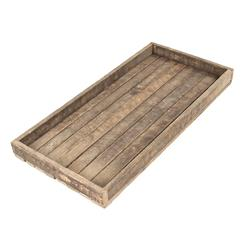 Homestead Rustic Lodge Reclaimed Wood Long Tray | Kathy Kuo Home