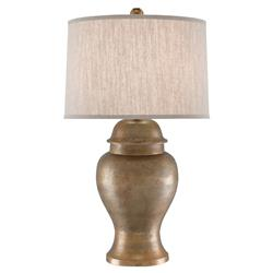 Igor Loft Textured Antique Gold Table Lamp | Kathy Kuo Home