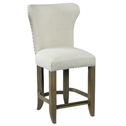 Ina French Country Linen Wingback Counter Stool | Kathy Kuo Home