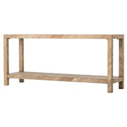 Ingmar Rustic Lodge Parson Herringbone Wood Console Table | Kathy Kuo Home