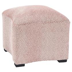 Ionia Retro Modern Pink Curved Footstool | Kathy Kuo Home