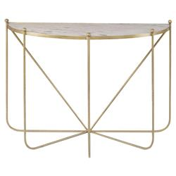 Isa Global Marble Gold Spindle Console Table | Kathy Kuo Home
