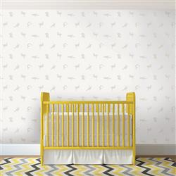 Ivory and Beige Breakdancer Silhouette Removable Wallpaper | Kathy Kuo Home