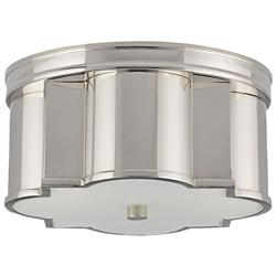 Izzy Modern Classic Quatrefoil Polished Nickel  Deco Ceiling Mount | Kathy Kuo Home