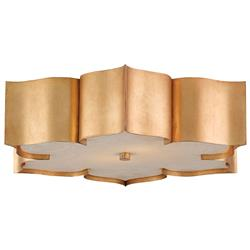 Jalbala Global Bazaar Antique Gold Lotus Ceiling Mount | Kathy Kuo Home
