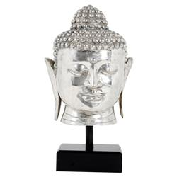 Javanese Global Bazaar Silver Plated Buddha Sculpture | Kathy Kuo Home