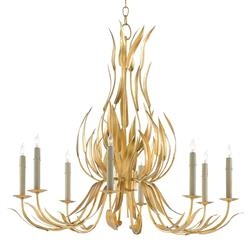 Jenica Regency Gold Leaves Gilded Chandelier | Kathy Kuo Home