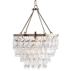 Jens Modern Classic Glass Drop Brass Chandelier | Kathy Kuo Home