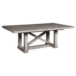 Jimmy Rustic Grey Cedar Wood Adjustable Dining Table | Kathy Kuo Home