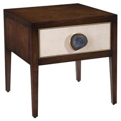 John Richard Modern Classic Isola Gesso Drawer Front Single Drawer Nightstand | Kathy Kuo Home